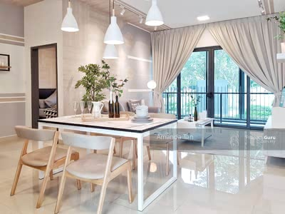 For Sale - 【Sky Semi-D Condo】Pure Residential Stay next to Shopping Mall School Bank Restaurant