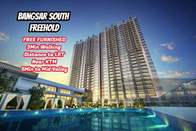 For Sale - Bangsar South New FREEHOLD Walking Distance to LRT Below Market Price Project Duelkey Concept